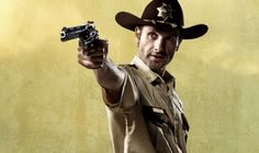 Deputy Sheriff Rick Grimes (Andrew Lincoln) From the Walking Dead.
