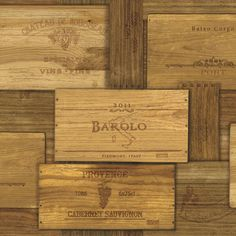 "Found it at Wayfair - Gentlemen's Quarters Randolph Wine Crates 33' x 20.5"" Wood Wallpaper"