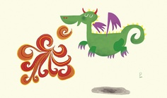 Dragón by pasckauer, via Flickr Calligraphy, Cards, Dragons, Maps, Calligraphy Art, Hand Lettering Art