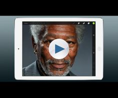 Painted by Kyle Lambert http://www.kylelambert.co.uk/ The world's most realistic finger painting. Using only a finger, an iPad Air and the app Procreate, artist Kyle Lambert has painted a photorealistic portrait of actor Morgan Freeman. Original Photograph Taken by Scott Gries -  http://www.scottgries.com/ Music by Richard Woolgar