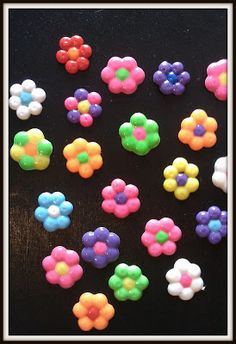 Melted Pony Bead Flower Crafts More