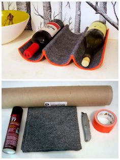 DIY : wine rack with mailing tube #DIY, #Rack, #Wine