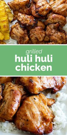 A traditional Hawaiian chicken recipe with brown sugar, ginger and soy sauce, this Huli Huli Chicken is an easy and delicious grilling recipe. #recipe #chicken #grilling #hawaiian #hulihuli Poulet Huli Huli, Huli Huli Chicken, Huli Huli Sauce, Grilled Chicken Recipes, Recipe Chicken, Baked Chicken, Keto Chicken, Rotisserie Chicken, Healthy Chicken