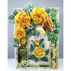 Yellow Classic Rose Window