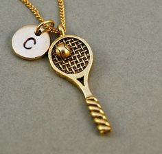 Tennis Racket necklace