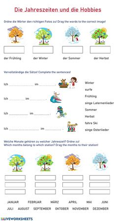 Online Exercise, Exercise For Kids, Germany For Kids, Study German, Germany Language, School Subjects, Worksheets For Kids, Third Grade, Colorful Backgrounds