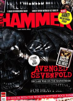 METAL HAMMER 12/2013 Pack AVENGED SEVENFOLD+STICKER+METAL v.2.1 CD+BEER MATS New  | eBay