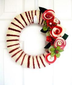 14 inch CrimsonThe Original Felt Yarn Wreath by KnockKnocking, $65.00