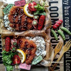 Asian Recipes, Real Food Recipes, Cooking Recipes, Healthy Recipes, Cute Food, Yummy Food, Bento Recipes, Bento Box Lunch, Food Design