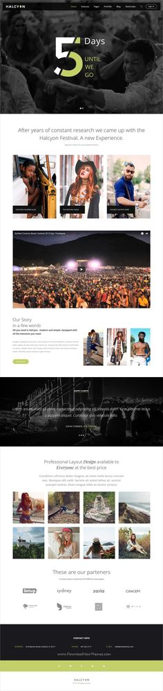 Halcyon is clean and modern design multipurpose responsive #WordPress theme for #event and #festivals  website with 30+ stunning niche homepage layouts download now..