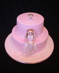 Pink 1st Communion Cake