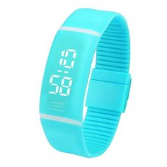 KOOZIMO Mens Womens Rubber LED Watch Date Sports Bracelet Digital Wrist Watch * Want to know more on the watch, click on the image.