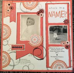 Whats in a name. I loved using Close To My Heart February stamp of the month A Happy Hello Lasting Memories, Close To My Heart, February