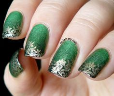 Forgotten fall. #green #stamping #bundlemonster #nails