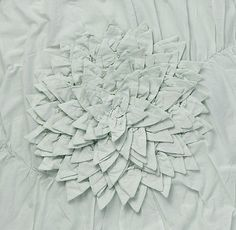 Washed Appliquéd Fleur Bedding Swatch