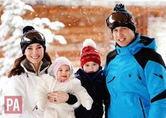 """British Royals on Twitter: """"Gorgeous pics of William, Kate, George & Charlotte in the French Alps - their first holiday as a family of 4! (PA) https://t.co/RvRC0Q28Xi"""""""