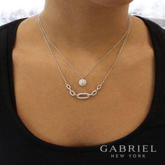 14k White Gold Fashion Diamond Necklace