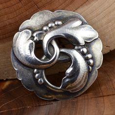 Vintage Sterling Silver - GEORG JENSEN DENMARK #20 Brooch