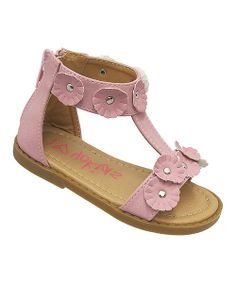 Aspiring style mavens can dominate the fashion scene with these gorgeous gladiator sandals. A functional back zipper provides an easy on and off, while the floral embellishments add a touch of girly charm that goes great with sunny day ensembles.