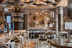 Cluny Bistro & Boulangerie, The Distillery District, Toronto. Interior…