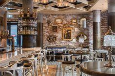Cluny Bistro & Boulangerie, The Distillery District, Toronto. Interior…