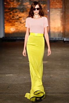 finally something that is not black, white, or gray! love this christian siriano skirt.