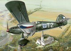 Plane And Pilot, Aircraft Painting, Korean War, Aviation Art, Military Art, Pilots, World War Two, Czech Republic, Wwii