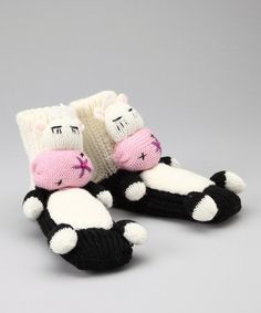 Take a look at this White Cow Slipper Socks by Crazy Sox on #zulily today!
