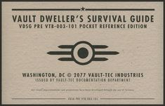 fallout vault tec first aid - Google Search