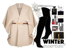 """Winter Essentials"" by fra3 ❤ liked on Polyvore featuring River Island, Yves Saint Laurent, Raye, Bobbi Brown Cosmetics, Falke, Chanel, OPI and Christian Dior"