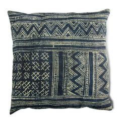 Indigo Batik Cushion. You can make this with Indigo dyed hemp available at ClothRoads.