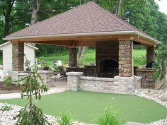Pergola Kits Attached To House Wood Pergola, Pergola Patio, Diy Patio, Backyard Patio, Backyard Landscaping, Pergola Kits, Backyard Retreat, Outdoor Pavilion, Outdoor Gazebos