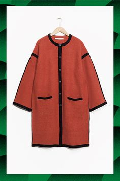 50 Winter Coats For Every Budget #refinery29  http://www.refinery29.com/winter-coats-for-every-budget#slide-10  $100-$250Dress up your daily look with a slightly-oversized (but still quite shapely) red wool piece. Bonus points for black leather piping.& Other Stories Rusty Red Wool Coat, $195, available at & Other Stor...