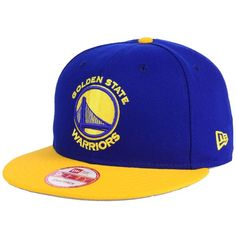 New Era Golden State Warriors 2-Tone Warriors Chase 9FIFTY Snapback... ($32) ❤ liked on Polyvore featuring men's fashion, men's accessories, men's hats, mens caps and hats, mens snapback hats and mens sports hats