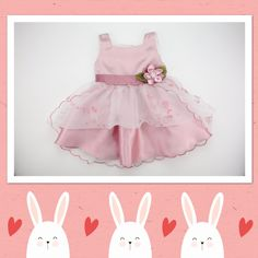Elegant 'Chloe' in Dusty Pink available sizes from 12m to 7y.