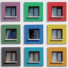 Vibrant and colorful architectural images by Turkish photographer and trained architect Yener Torun that captures some of his home city's more modern and lesser-known suburban areas. Turkish Architecture, Colour Architecture, Facade Architecture, Beautiful Architecture, Contemporary Architecture, Facade Design, Exterior Design, Kindergarten Design, Color Of Life
