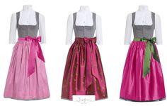 Trachtenträume in pink mit unseren Dirndlschürzen Clara, Josefine und Viktoria aus Seide