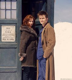 Donna and Ten on the Planet of the Ood.