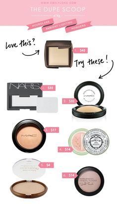 The six best dupes for Hourglass Ambient Lighting Powders | emilyloke.com