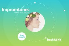 Impromtunes | Music UI Kit by Silviana Cosma on @creativemarket