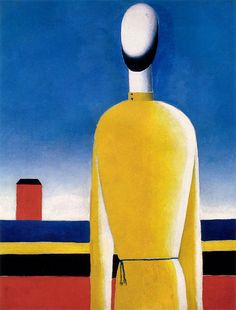 thesavagesgallery:  Kazimir Malevich (1878-1935) Complex Presentiment: Half Figure in a Yellow Shirt, c. 1928-1932. State Russian Museum, St. Petersburg, Russia. Artist Biography