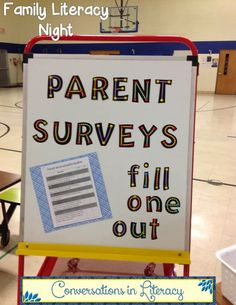 Family Literacy Night Activities-fill out a survey