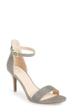 BP. 'Luminate' Open Toe Dress Sandal (Women) available at #Nordstrom.  I have these in blush patent.  They are comfy and stylish and I want them in every color!   Danced all night in these and didn't feel it!