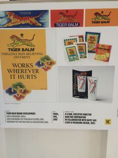 Tiger Balm brand development from the 1960s to 1991 to 2003.