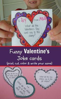 Funny Valentine's Day Cards - Printable Joke Cards for Kids