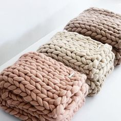 Chunky Merino Runner - Blush #Bedding #Bedroom #Blanket