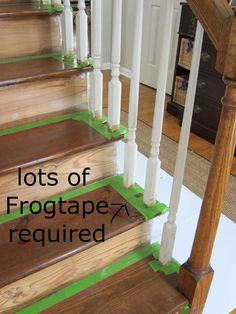 remove ugly carpet from stairs and stain! <3