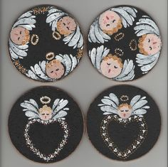 Angel coasters - so cute!