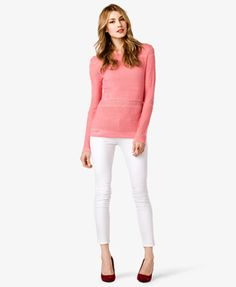 Pointelle Knit Sweater   FOREVER 21 - 2022821643