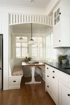 Great use of the breakfast nook space so popular in cottages and bungalows. Minnetonka Cottage Kitchen - Design, Award Winners - Builder Magazine